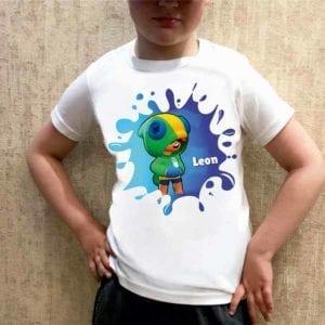 Футболка для мальчика с картинкой Леон