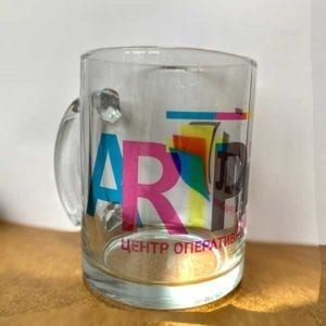 Печать на прозрачных чашках
